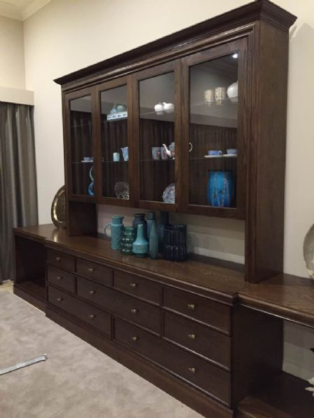 American Walnut Veneer Wall Unit