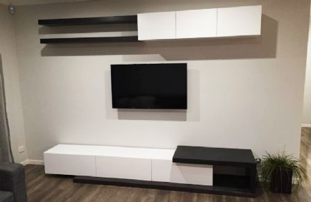 MDF Low Line Floating TV Wall Unit