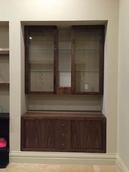 American Oak Timber Build-in Wall-Unit