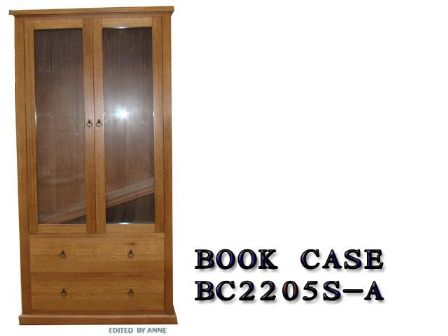 TASMANIAN OAK TIMBER BOOK CASE BC-2205S-A