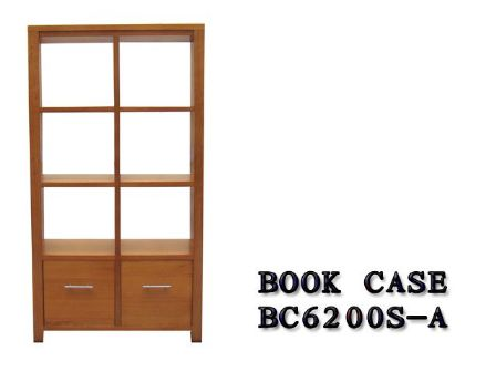 TASMANIAN OAK TIMBER BOOK CASE BC-6200S-A
