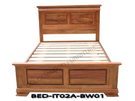 BLACKWOOD TIMBER BED BD-IT02A-BW01