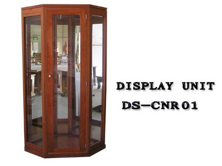 JARRAH TIMBER CORNER DISPLAY UNIT DS-CNR01
