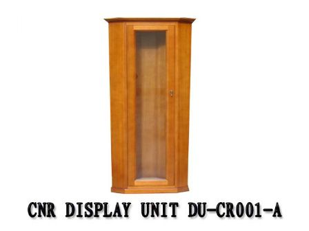 TASMANIAN OAK TIMBER CORNER DISPLAY UNIT  DS-CN002M