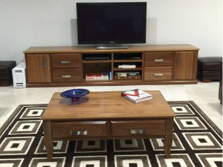 Spotted Gum Low Line TV Unit