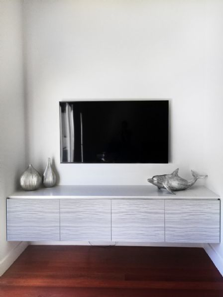 Polyurethane Floating TV Wall Unit