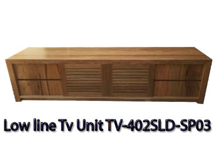 Spotted Gum Timber Low Line Tv Unit TV-402SLD-SP03