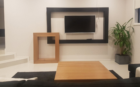 Tasmanian oak Timber Floating  Wall Unit