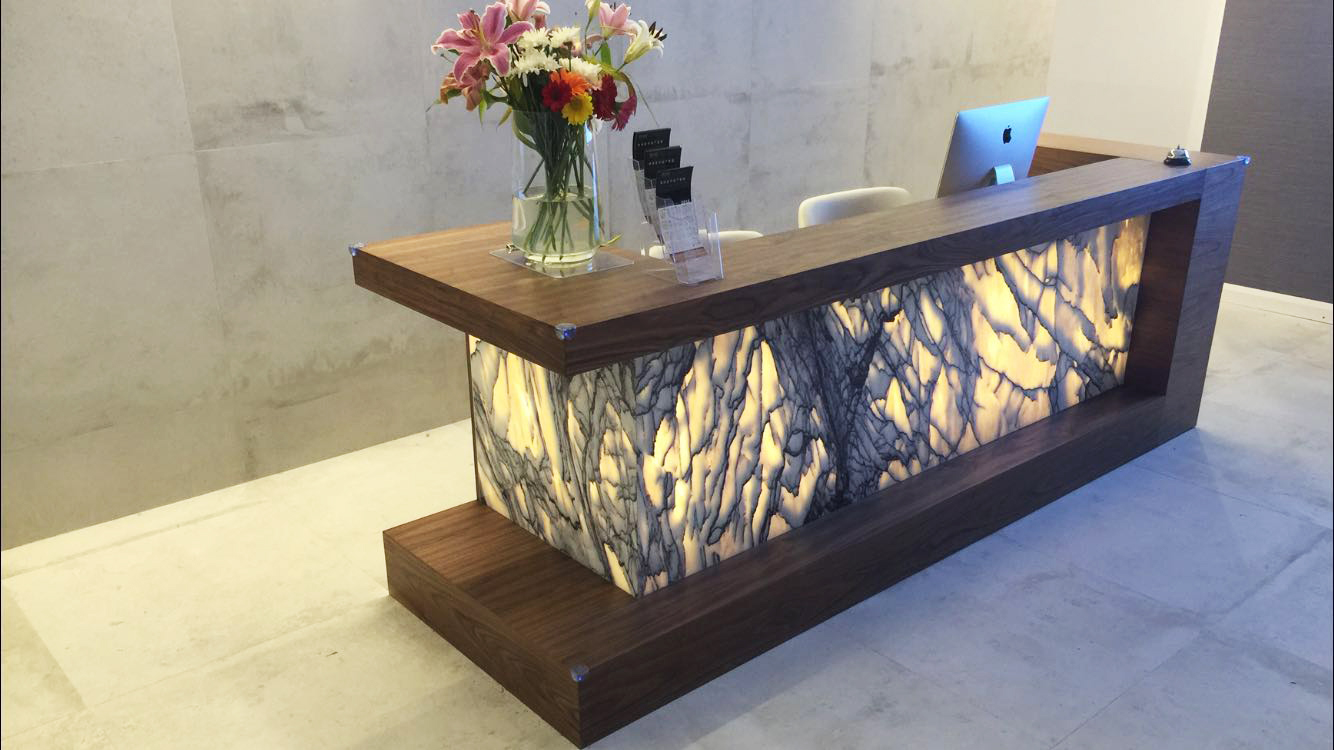 Walnut Marble Reception