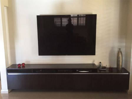 Tasmanian Oak Timber Low Line TV Unit